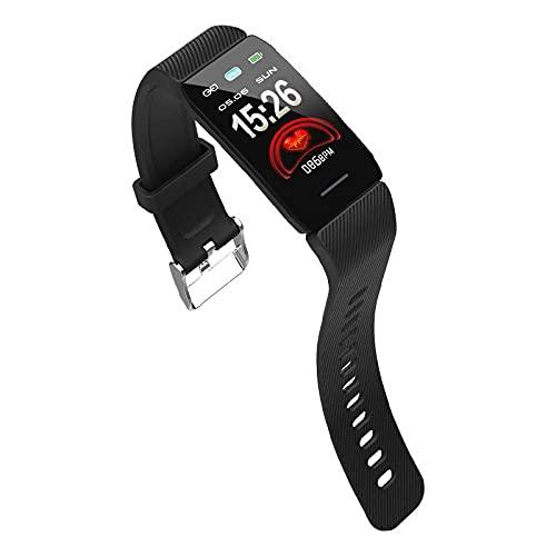 Yumanluo Smart Band Smart Watch,Pulsera Deportiva Impermeable, monitorización del sueño del oxígeno en Sangre del Ritmo cardíaco del Paso-Negro,Pulsera Inteligente con Pulsómetro