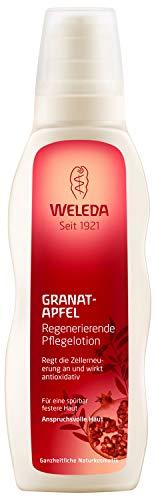 WELEDA Granatapfel Regenerierende Pflegelotion, Naturkosmetik Bodylotion zur Förderung der Zellerneuerung und Schutz vor Hautalterung und Umwelteinflüssen (1 x 200 ml)