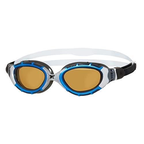 Zoggs Predator Flex Polarized Ultra Reactor Goggles S Blue/metallic Silver/Copper 2020 Schwimmbrille