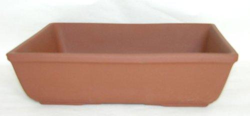 CERTRE Vaso Bonsai Rettangolare in gres 9000 - cm.34X27x9,5h. Gres Rosso (Forniti di Serie con 2 Fori sul Fondo) - Made in Italy