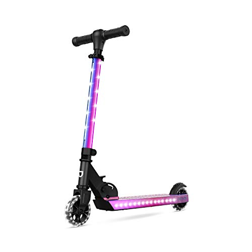 Jetson Jupiter Folding Kick Scooter, LED Light-Up, Adjustable Handle Bar, for Kids Ages 5+