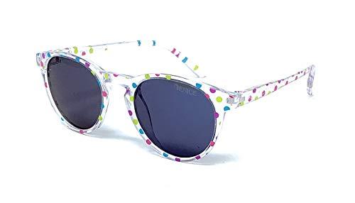 VENICE EYEWEAR OCCHIALI Gafas de sol Polarizadas para niño o niña - protección 100% UV400 - Disponible en varios colores (Transparente - Fiesta)