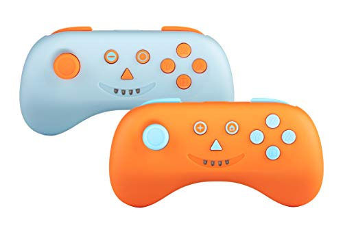 snakebyte MULTI PLAYCON Set de 2 Bleu / Orange - Wireless Bluetooth sans fil pour Nintendo Switch u. Manette de jeu multijoueur Lite / analogique Joy-Con avec piles rechargeables et Effet de vibration