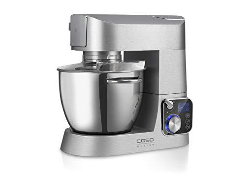 CASO KM1200 Design Küchenmaschine mit umfangreichem Zubehör, hochwertiges Gehäuse aus Aluminium-Druckguss, 1200 Watt, Edelstahl- Rührschüssel mit 5.5 Liter Kapazität
