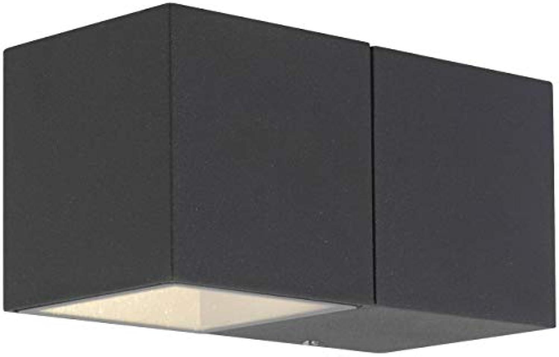 AEG DAVEEN LED Wandleuchte 14 cm Aluminium-Druckguss Glas Anthrazit