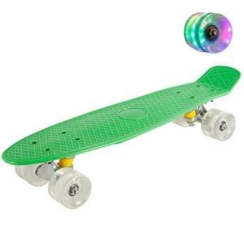 N/V 22inch Fish Board Mini Cruiser Skateboard Children Scooter Longboard Skate Boards Retro Penny Board Wheel Truck Bearings (???6)