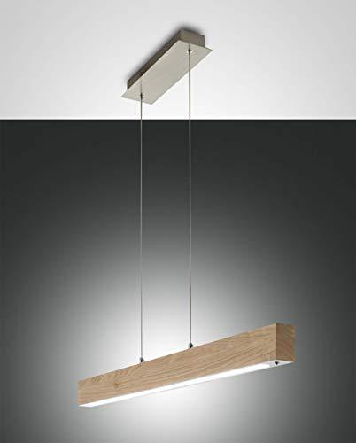 Fabas Luce 3383–40–215Suspension LED Badia 43W 3870lm Warm White Color Eiche–Anpassbare Licht Berührungen