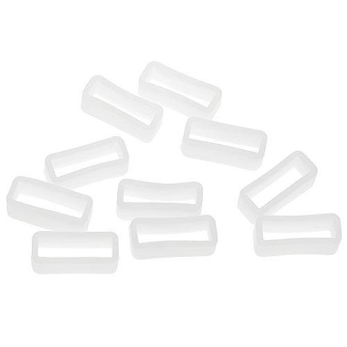 kowaku 10 Uds. Bucles de Silicona Correa de Reloj Retenedor de Repuesto de 8 Mm - Blanco8mm 22mm