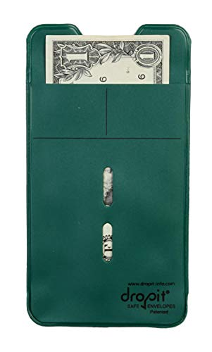 Reuseable Dropit Safe Envelope for Safe Depositing of Currency and Money | Organize Coupon, Currency and Other Documents (Green, 50)