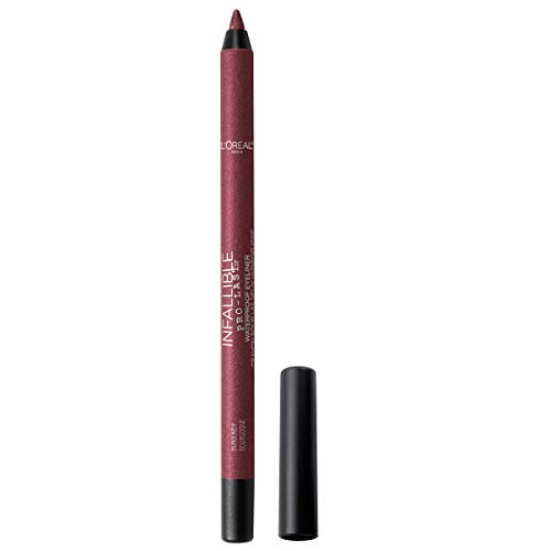 L'Oreal Paris Makeup Infallible Pro-Last Pencil Eyeliner, Waterproof & Smudge-Resistant, Glides on Easily to Create any Look, Burgundy, 0.042 Oz.