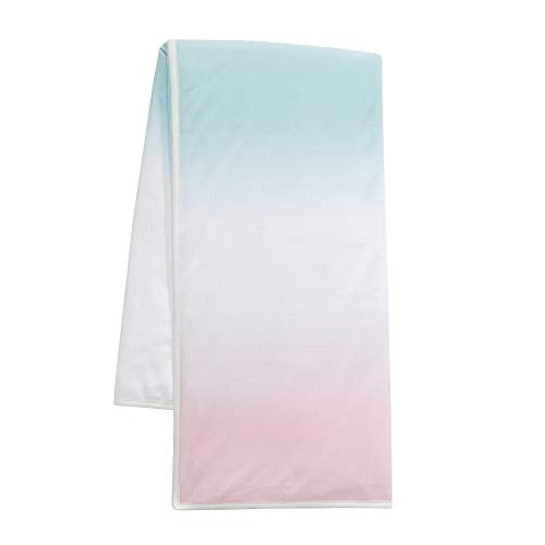 Lambs & Ivy Watercolor Pastel Pink/Mint/White Ombre Minky Baby Blanket