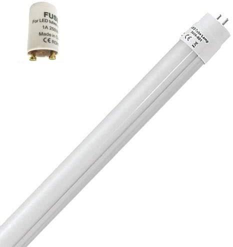 1 x 9 W LED świetlówka G13 T8 60 cm świetlówka tuba neutralna biel 4200 K 900 lumenów kąt świecenia 270°/wraz z rozrusznikiem mlecznobiała osłona [klasa energetyczna A+]