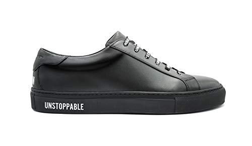 "Sneekr italienische Premium Sneaker ""Milano"" inkl. Schuhlöffel - Limited Edition - Schwarze Herren Schuhe aus Echtleder - Atmungsaktive Leder Herrenschuhe - Elegante Lederschuhe - Made in Italy"