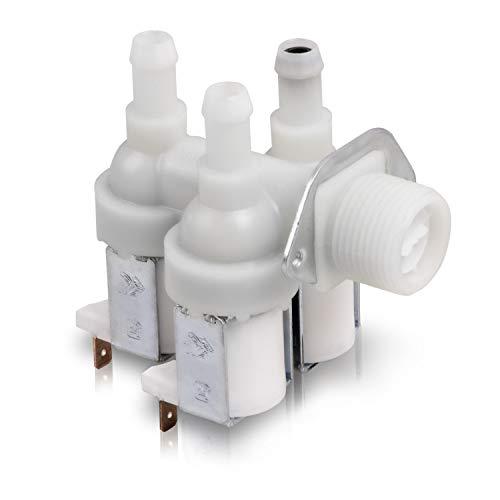 Válvula magnética de repuesto para lavadora Miele 1678013, 230 V, 3 vías, 90°, 10,5 mm de diámetro para lavadora
