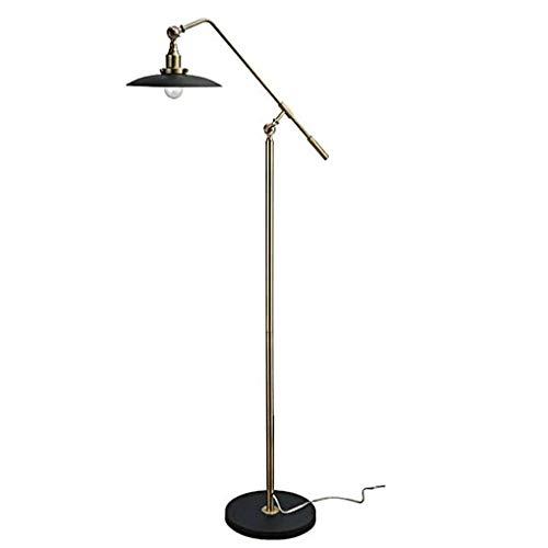 DIEFMJ Lámpara de pie Industrial Retro E27 American Water Pipe Loft Soporte de Libro Lámpara de protección Lámpara de pie de Brazo Largo Lámpara de pie Retro de Estilo Industrial Loft