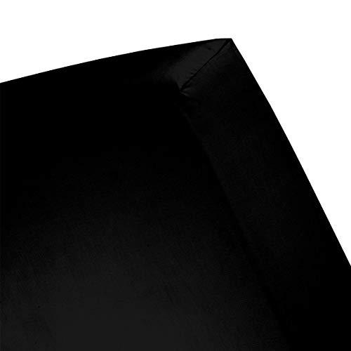 Cinderella hoeslaken basic katoen 200x200 zwart (tot 25cm)