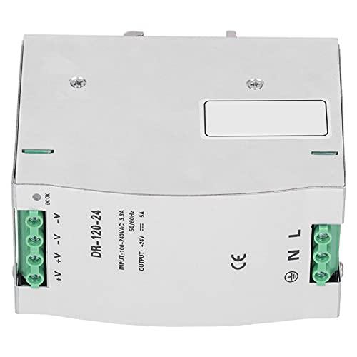 DR-120-24 Fuente de alimentación conmutada de riel DIN Fuente de alimentación de CC ajustable 24V5A 120W Adaptador de controlador Equipo de voltaje
