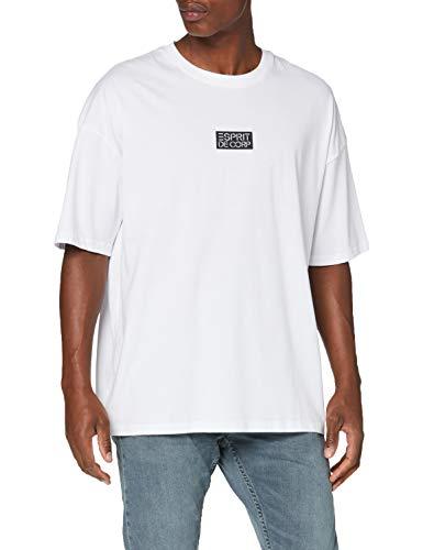 edc by Esprit 030CC2K312 T-Shirt Herren, Weiß (100/WHITE), XXL