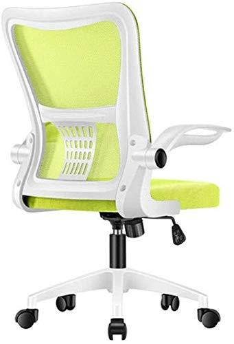 ZHENG Silla Ergonomica Ajustable y Giratorio Tejido de Malla for sillas de Juego Silla sillas Escritorio de Oficina Silla ergonomica Silla de Oficina (Color : White Frame Green Net)