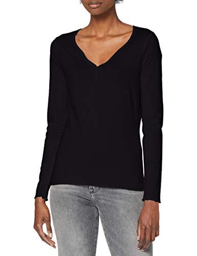 edc by Esprit 120CC1K303 Camiseta, 001/Black, M para Mujer