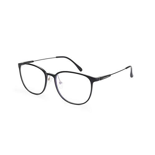 Livho Blue Light Blocking Glasses,Cut UV/Ray Transparent Lens,Computer Reading/Gaming Glasses,Anti Eyestrain/Anti Scratch,Sleep Better for Women/Men (Matte Black)