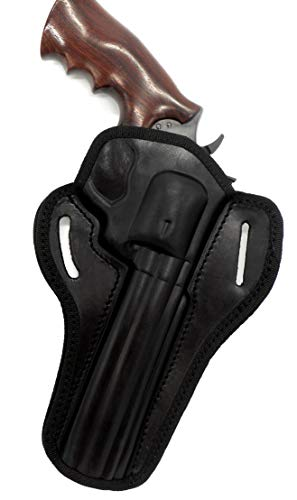 "HOLSTERMART USA CEBECI ARMS Black Leather Open Top Right Hand Belt Holster for COLT Python .357 Revolver, 6"" Barrel"
