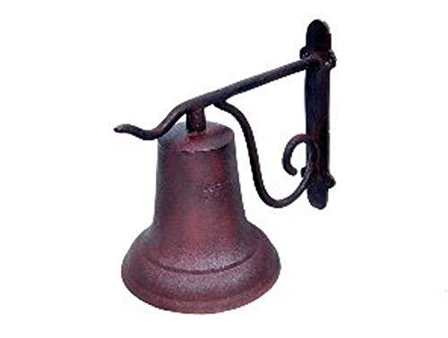 ARSUK Deurbel Tuin Boerderij Yard Ship Bell Gietijzer Vintage Stijl Muur gemonteerd Bruin/Zwart/Rustiek Ornaat
