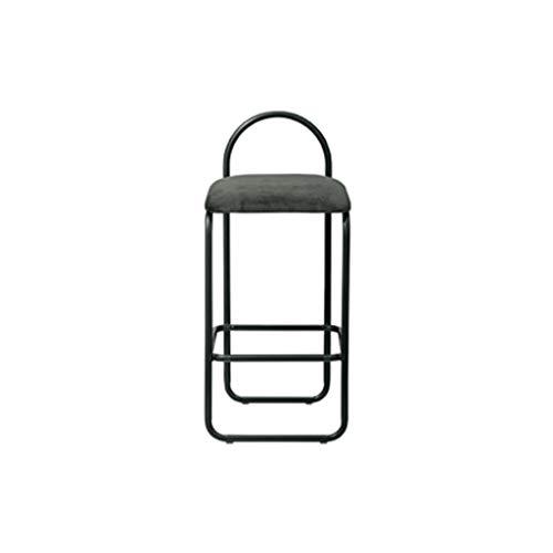 Barkrukken voor keukens, suède stoel, smeedijzeren frame barkruk met antislip voeten voor eetkamer Counter Cafe Kitchen Pub -P3.16