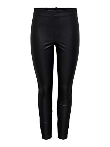 ONLY Damen ONLRACHEL Faux Leather Legging CC OTW Hose, Black, 38