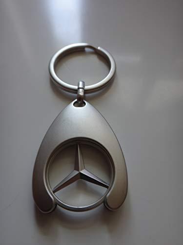 Mercedes Original Schlüsselanhänger mit Einkaufswagenchip, verchromt, TOP Qualität