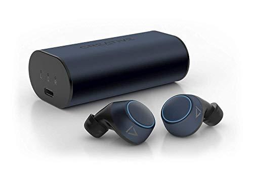 Creative Outlier Air V2 TWS Cascos in-Ear inalámbricos y Controles táctiles, Membrana de grafeno, Bluetooth 5.0, aptX, AAC, 34 Horas de duración de la batería con 12 Horas por Carga, IPX5