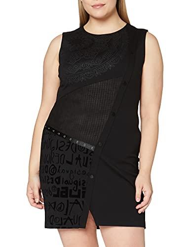 Desigual Vest_New HYORK Vestido Casual, Negro, L para Mujer
