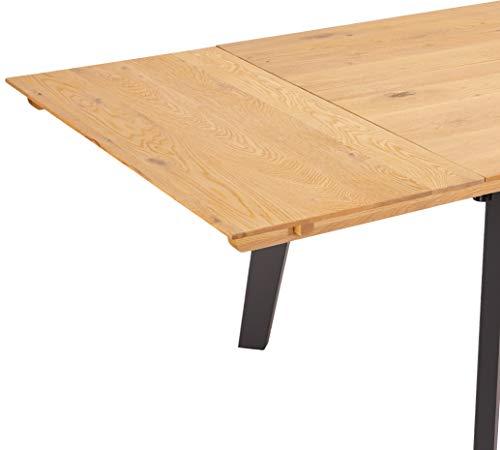 Ibbe Design Ansteckplatte Tischplatte für Sentosa Ausziehbar Esstisch Natur Geölt Massiv Eiche Holz Esszimmer Tisch, 90x50x5 cm