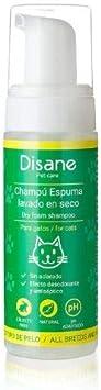 DISANE Champú Seco Gatos Natural 200ml | Espuma Lavado en Seco para Gatos, Sin Aclarado | Elimina la Suciedad y los Malos olores del Pelaje del Gato | Cruelty-Free