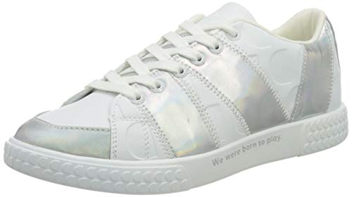 Desigual Shoes_Comet_iridiscent, Zapatillas para Mujer, Blanco, 45 EU