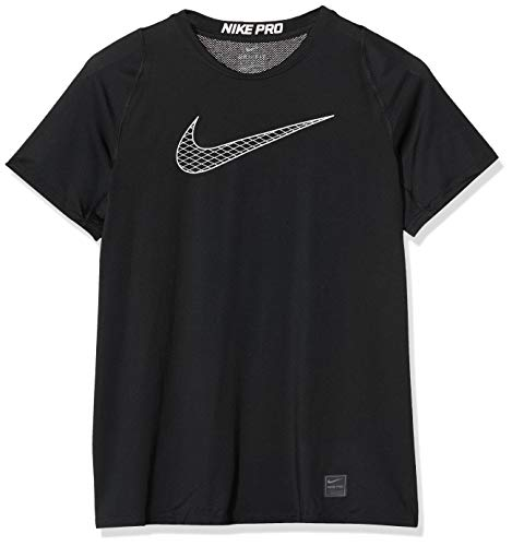 Nike Jungen T-Shirt B Np Top SS FTTD, Black/White/M, 858234