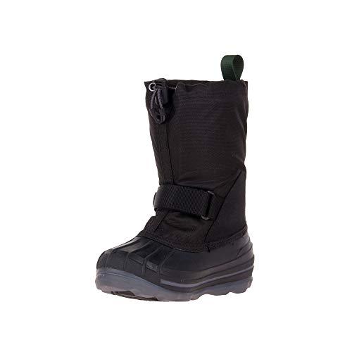 Kamik Uniseks chłopięce Waterbug8g buty zimowe, czarne (Black-Noir), 38 EU