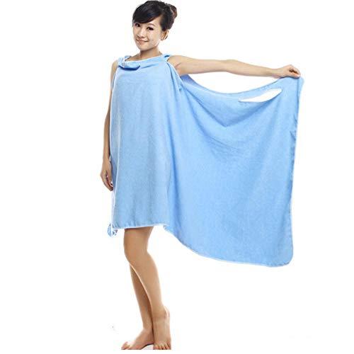 Badhanddoeken Douche Dames Badhanddoeken Microfiber Effen handdoek Rok Jurk blauw 150x80cm