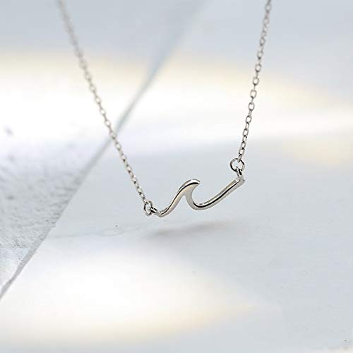 Spray Wave Thin Minimalist Rose Gold 925 Sterling Silver Clavicle Chain Necklace For Women Luxury Korean Dainty Jewelry SN2306