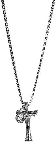 ZGYFJCH Co.,ltd Collar Joyas Collar con Colgante de Letra de Lava Collar de Acero de Titanio Collar con Colgante de Acero Inoxidable Collar de Acero de Titanio Regalos de Mujer