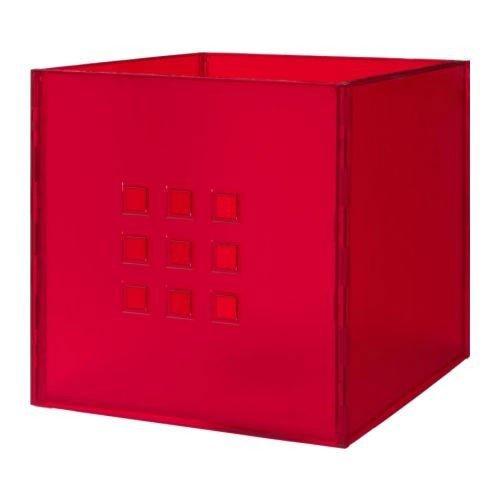 Ikea lekman Box in Rosso (33x 37x 33cm); Adatto per Expedit Regal