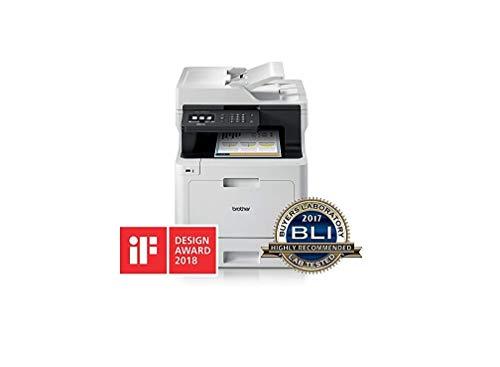 Brother MFC-L8690CDW Stampante Multifunzione Laser a Colori, con Fax, Velocità di Stampa 31 ppm, Stampa, Copia, Scansione e Fax Fronte Retro Automatico, Rete Cablata, Wi-Fi e Wi-Fi Direct