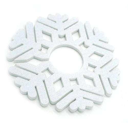 Fillar Elch Filz Untersetzer Gläser [12er Premium Set] Schneeflocken Glasuntersetzer für Tisch Deko Weihnachten Winter Küche Esszimmer Getränke Tassen Bar Glas - Filzuntersetzer Tischuntersetzer
