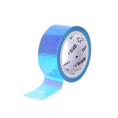 JERKKY Rhythmische Gymnastik Dekoration Holographic Prismatic Glitter Tape Hoops Stick Sport Zubehör Blau