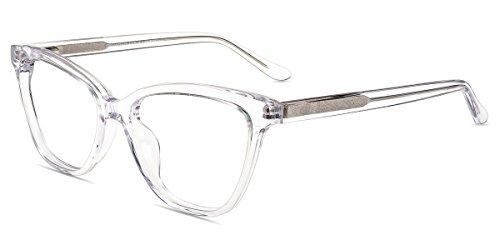 Firmoo Blue Light Blocking Reading Glasses,Women Clear Computer Glasses, Vintage Cat Eye Eyeglasses Frame