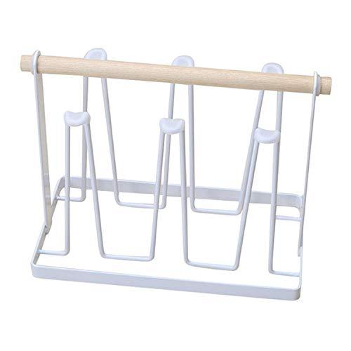 Soporte de drenaje de cocina, soporte de vidrio de agua, soporte de vaso de cerveza, soporte invertido en forma de Z para alta estabilidad, soporte de vaso de cerveza