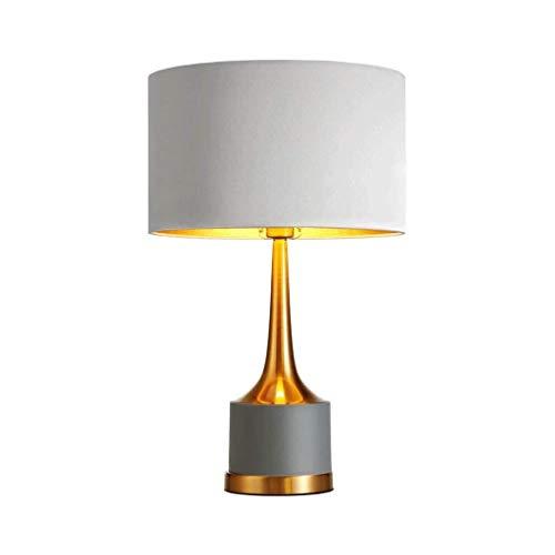CSD vector decorativa lámpara creativa moderna mesa de oro Lamp Hotel Sala de Exposiciones del Club Salón Dormitorio de noche Estudio metal lámpara de mesa (Color : Gray)