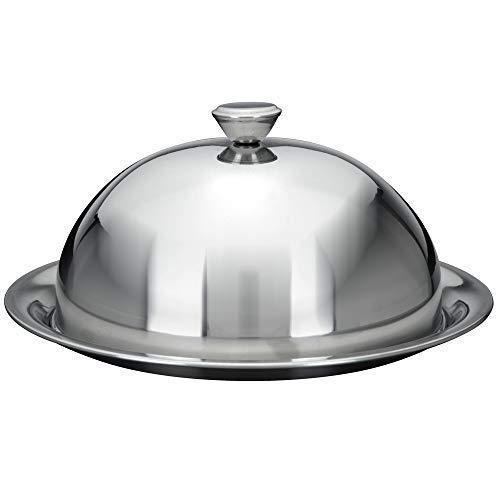 Speiseglocke mit Teller - Ø 25 cm - Tellerglocke - Käseglocke - Servierglocke - Servierteller - Servierhaube