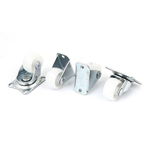 a11060300ux0553Sourcingmap Rollensatz, 4 Lenkrollen mit Kunststoffrädern –Weiß