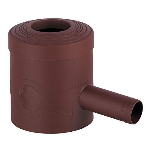 3P Technik Filtersysteme Regenwasserfilter Regensammler Standard braun für Fallrohre Ø 68-100 mm und Viereckfallrohre mit 60 x 60 mm zum Befüllen von Regentonnen, Regenfässer und Regenwassertonnen
